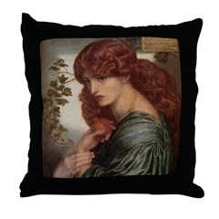 Proserpine by Rossetti Throw Pillow