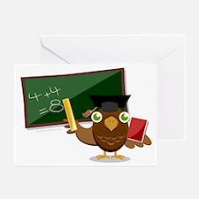 teacher owl Greeting Cards (Pk of 20)