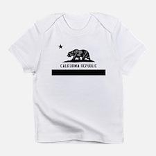 California Flag Black and Grey Infant T-Shirt