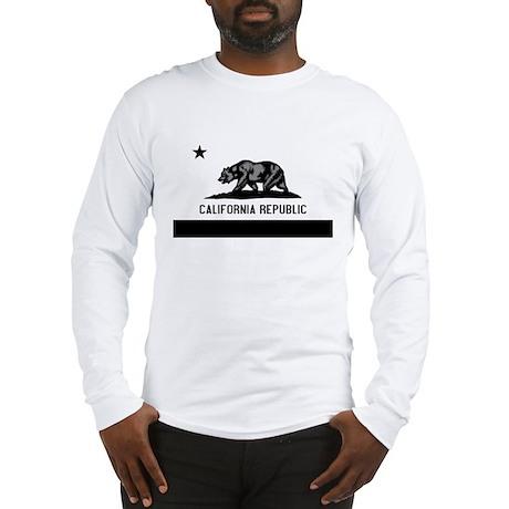 California Flag Black and Grey Long Sleeve T-Shirt