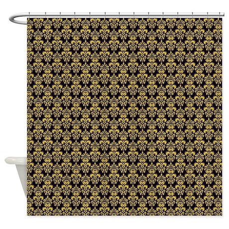 Gold Fleur De Lis Large Shower Curtain By Poptopia1