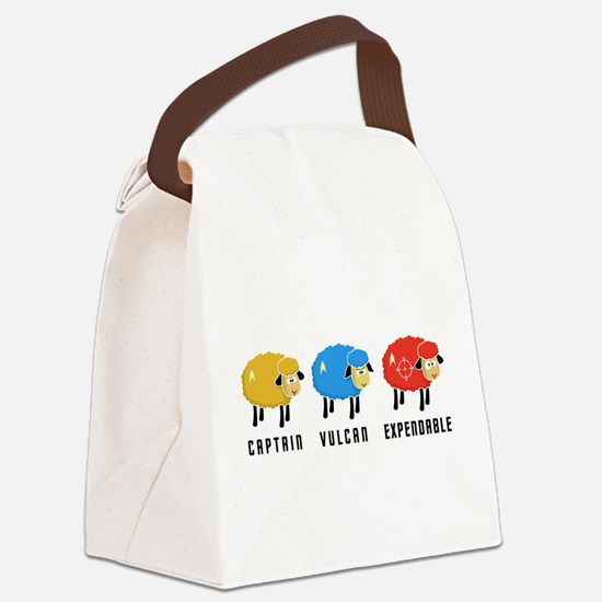 Star Trek Sheep Canvas Lunch Bag