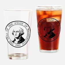 Washington State Black Drinking Glass
