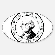 Washington State Black Sticker (Oval)