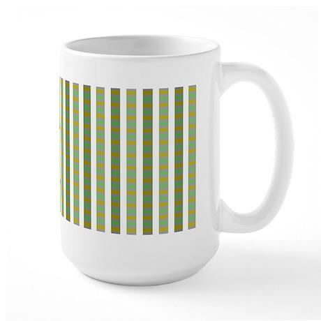 3-Tone Plaid Large Mug
