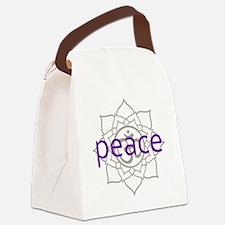 PeaceLotus.png Canvas Lunch Bag