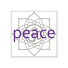 "PeaceLotus.png Square Sticker 3"" x 3"""