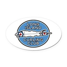 Long Island Curling Club Oval Car Magnet