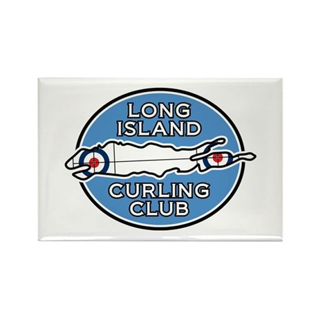 Long Island Curling Club Rectangle Magnet (100 pac