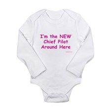 New Chief Pilot (Girl) Infant Creeper Body Suit