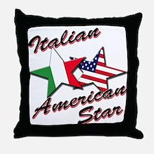 Italian American Star Throw Pillow