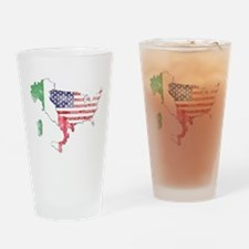 Italian American Star Drinking Glass