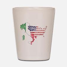 Italian American Star Shot Glass