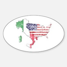 Italian American Star Decal