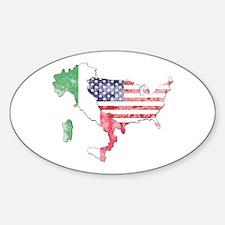 Italian American Star Sticker (Oval)