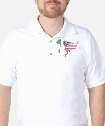 Italian American Star Golf Shirt