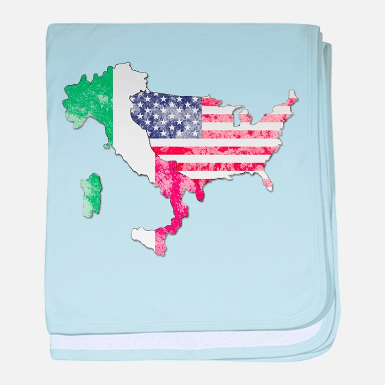 Italian American Star baby blanket