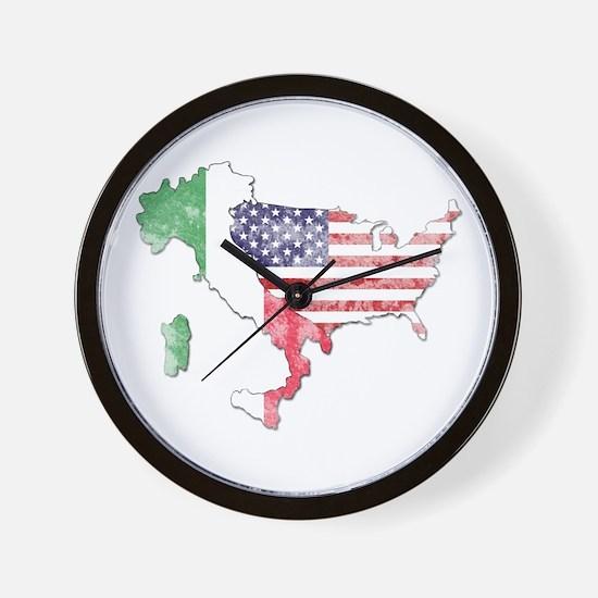 Italian American Star Wall Clock