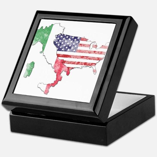 Italian American Star Keepsake Box