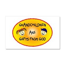 GRANDCHILDREN ARE GIFTS FROM GOD Car Magnet 20 x 1