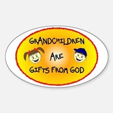 GRANDCHILDREN ARE GIFTS FROM GOD Bumper Stickers