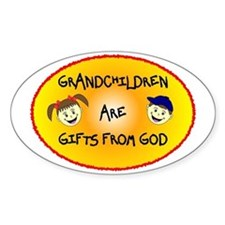 GRANDCHILDREN ARE GIFTS FROM GOD Decal