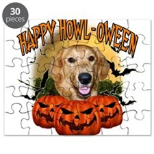 Happy Halloween Golden Retriever.png Puzzle