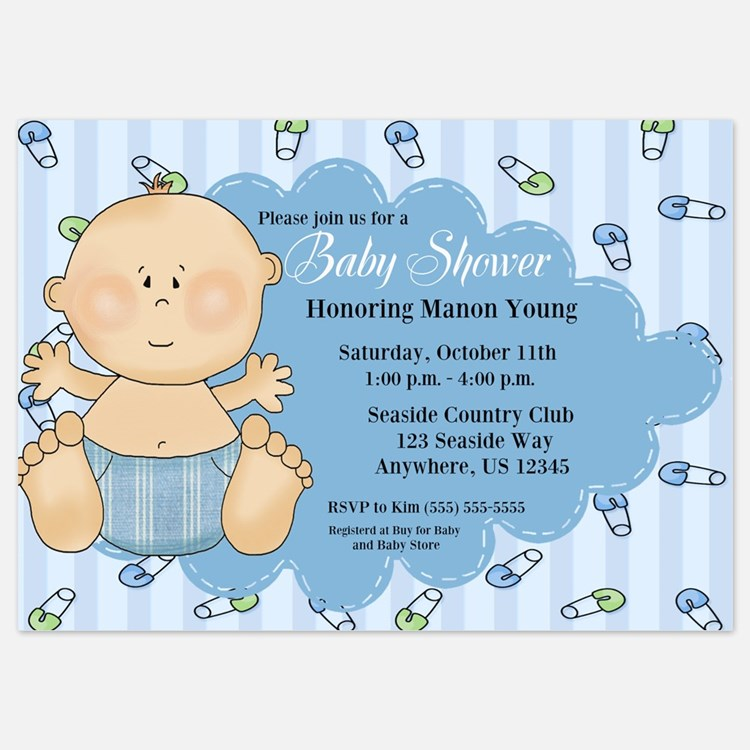 Baby Shower Invitations Wording For Boys: Baby Boy Shower Invitations