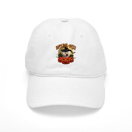 Happy Halloween Bichon Frise.png Cap