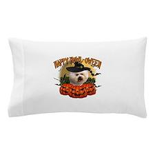 Happy Halloween Bichon Frise.png Pillow Case