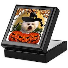 Happy Halloween Bichon Frise.png Keepsake Box