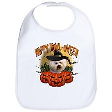 Happy Halloween Bichon Frise.png Bib