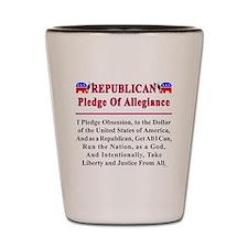 Republican Pledge Shot Glass