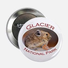 """Glacier National Park...Pika Profile 2.25"""" Button"""