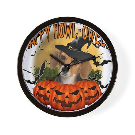 Happy Halloween Beagle.png Wall Clock