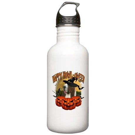 Happy Halloween Bassett Hound.png Stainless Water