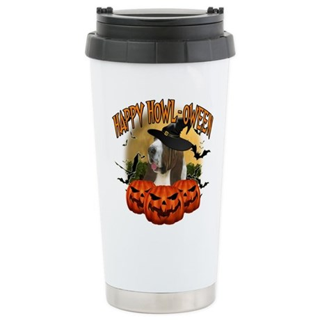 Happy Halloween Bassett Hound.png Stainless Steel