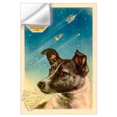Laika the space dog postcard Wall Decal