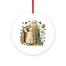 Irish Santa 2 Ornament (Round)