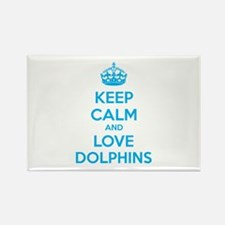 Keep calm and love dolphins Rectangle Magnet