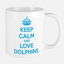 Keep calm and love dolphins Mug