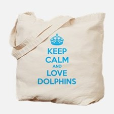 Keep calm and love dolphins Tote Bag