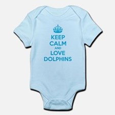 Keep calm and love dolphins Infant Bodysuit