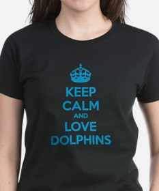 Keep calm and love dolphins Tee