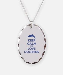 Keep calm and love dolphins Necklace