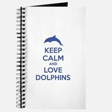 Keep calm and love dolphins Journal
