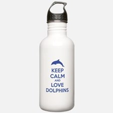 Keep calm and love dolphins Water Bottle