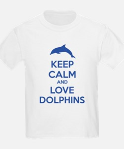 Keep calm and love dolphins T-Shirt