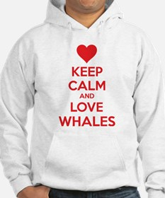 Keep calm and love whales Hoodie
