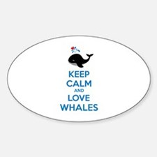 Keep calm and love whales Decal